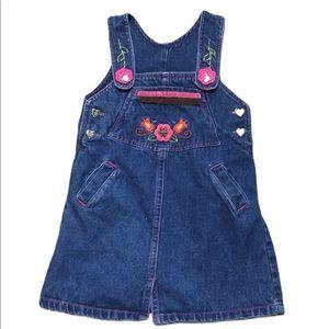 Buster Brown Blue Floral Denim Dress T4